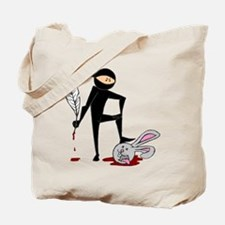 Plot Ninja kills Plot Bunny Tote Bag