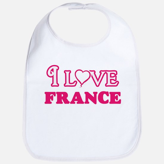 I love France Baby Bib
