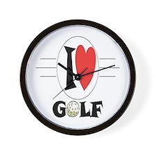 I Love Golf Wall Clock