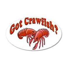 Got Crawfish 22x14 Oval Wall Peel