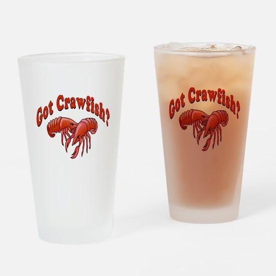 Got Crawfish Drinking Glass