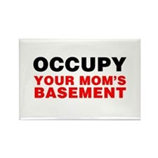 Occupy Your Mom's Basement Rectangle Magnet