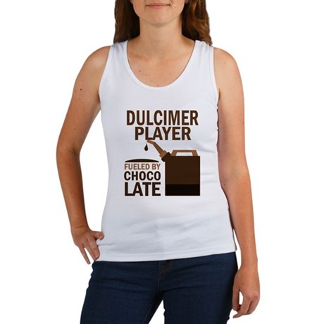 Dulcimer Player Powered By Donuts Women's Tank Top