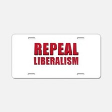 Repeal 5 Red Aluminum License Plate