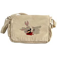 Plots Bunnies eat Plot Ninja Messenger Bag