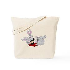 Plots Bunnies eat Plot Ninja Tote Bag