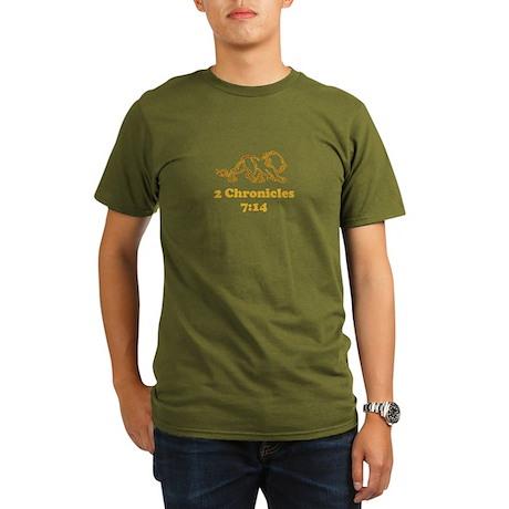 2 Chr 7:14 Lion - Organic Men's T-Shirt (dark)