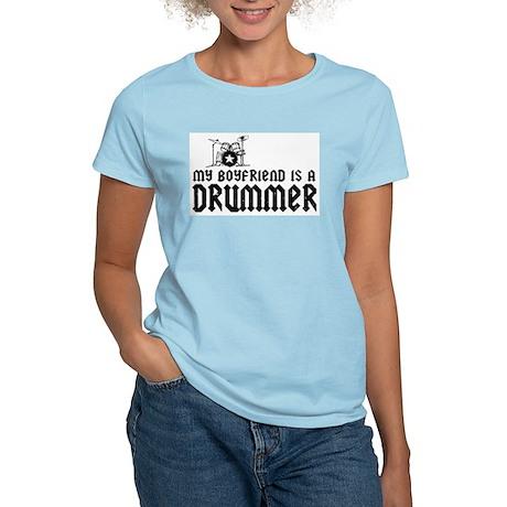 My Boyfriend is a Drummer Women's Pink T-Shirt