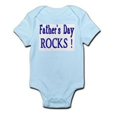 Father's Day Rocks ! Infant Creeper
