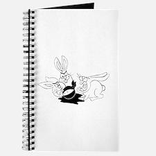 Plot Bunnies eat Plot Ninja (b/w) Journal