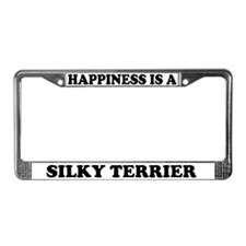 Happiness Is A Silky Terrier License Plate Frame
