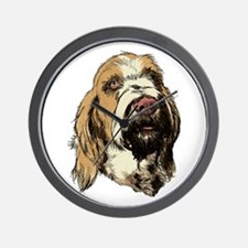 Dark Orange Spinone Wall Clock