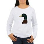 Mallard Drake Head Women's Long Sleeve T-Shirt
