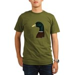 Mallard Drake Head Organic Men's T-Shirt (dark)