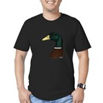 Mallard Drake Head Men's Fitted T-Shirt (dark)