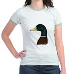 Mallard Drake Head Jr. Ringer T-Shirt