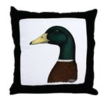 Mallard Drake Head Throw Pillow