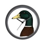 Mallard Drake Head Wall Clock