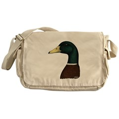 Mallard Drake Head Messenger Bag