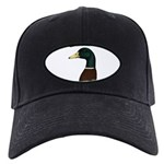 Mallard Drake Head Black Cap