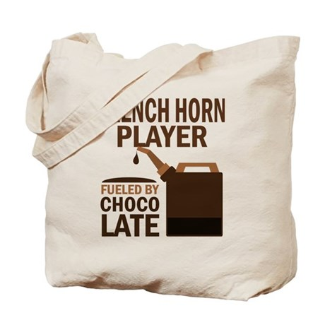 French Horn Player chocolate Tote Bag