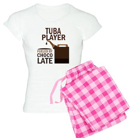 Tuba Player Powered By Donuts Women's Light Pajama