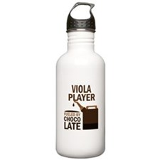 Viola Player Powered By Donuts Water Bottle