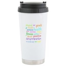 Fitness Collage Travel Coffee Mug