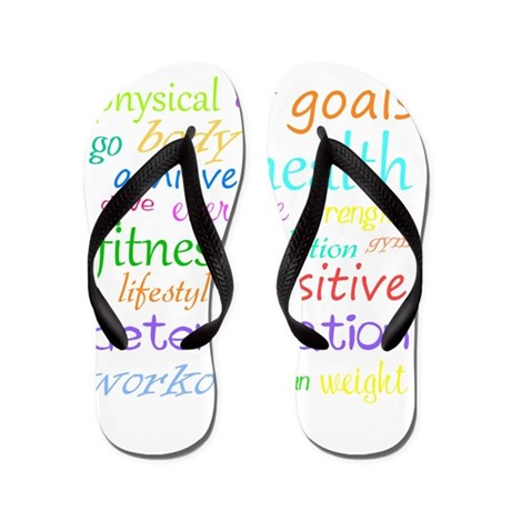 Fitness Collage Flip Flops