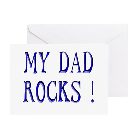 My Dad Rocks ! Greeting Cards (Pk of 10)