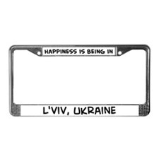 Happiness is L'viv License Plate Frame