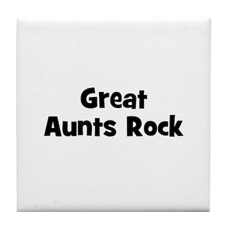 Great Aunts Rock Tile Coaster