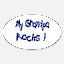 My Grandpa Rocks ! Oval Decal