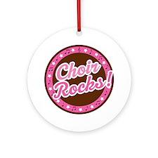 Choir Rocks Music Ornament (Round)