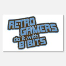 Retro Gamers Do It... Rectangle Decal
