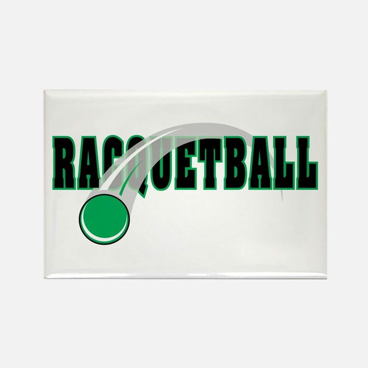 Racquetball 2 Rectangle Magnet