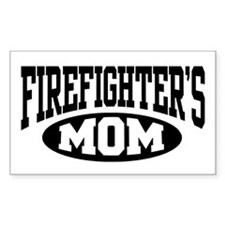 Firefighter's Mom Rectangle Decal