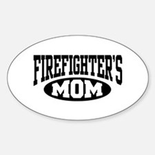 Firefighter's Mom Oval Decal