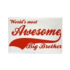 World's Most Awesome Big brother Rectangle Magnet