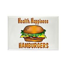 Hamburger Happiness Rectangle Magnet (10 pack)