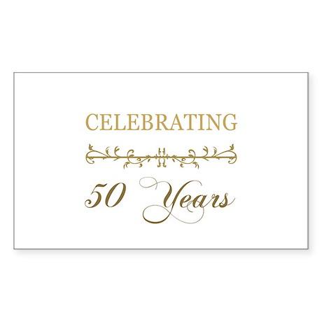 Celebrating 50 Years Sticker (Rectangle)