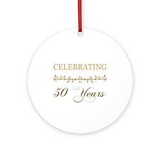 Celebrating 50 Years Ornament (Round)