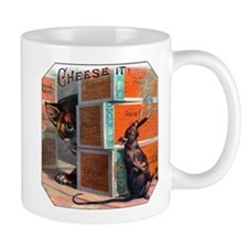 Cheese It Rat Cigar Label Mug