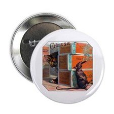 """Cheese It Rat Cigar Label 2.25"""" Button"""