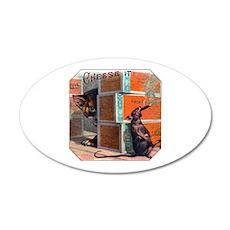 Cheese It Rat Cigar Label 22x14 Oval Wall Peel