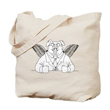 Flying Pig in a Suit Tote Bag