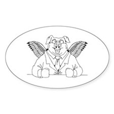 Flying Pig in a Suit Decal