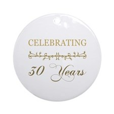 Celebrating 30 Years Ornament (Round)