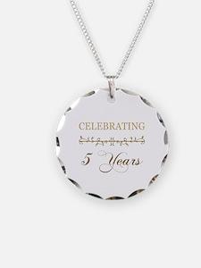 Celebrating 5 Years Necklace