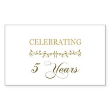 Celebrating 5 Years Decal